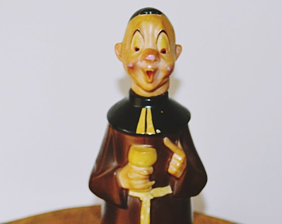 Goebel Monk Decanter, 1935-1949 Goebel Collectible, Monk Bottle With Cork