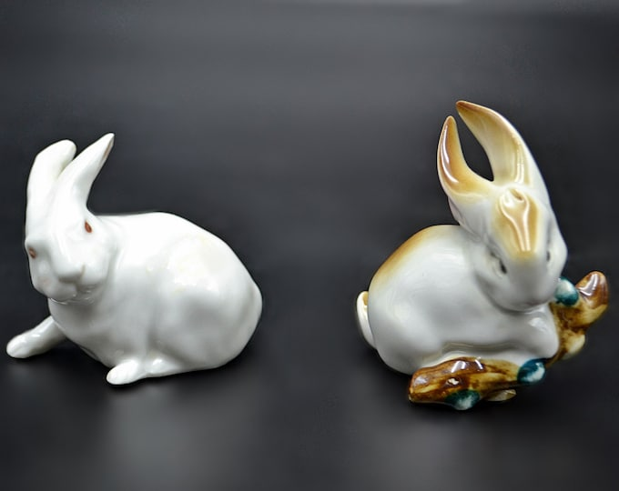 Royal Copenhagen Bunny, Zsolnay Rabbit Figurine