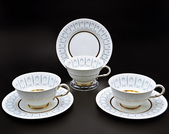 Paragon Cross And Olive Teacups, Set Of Three