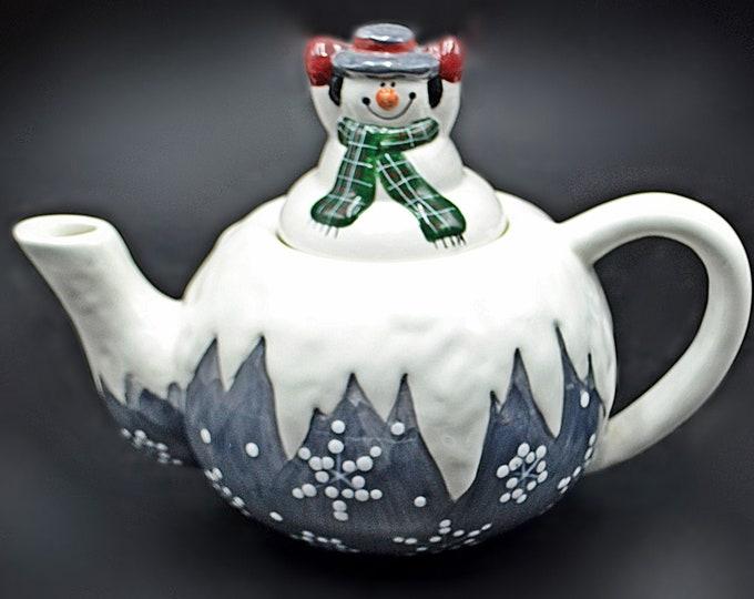 Snowman Teapot, Novelty Teapot