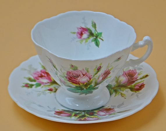 Hammersley & Co Grandmother's Rose Teacup And Saucer