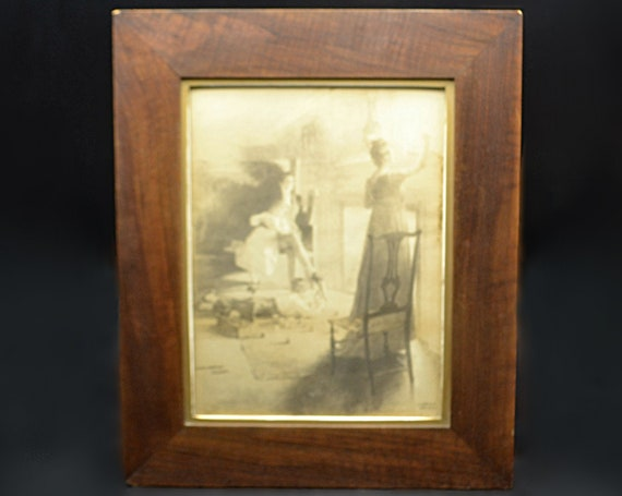 Antique William L Taylor Print, Copley Print Copyright by Curtis & Cameron