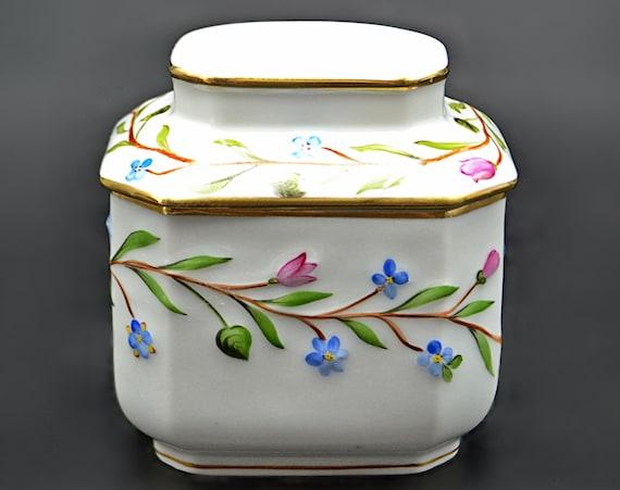 Herend Tea Caddy, Porcelain Tea Jar