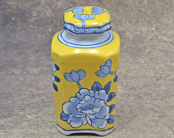 Asian Tea Jar, Chinese Porcelain Box