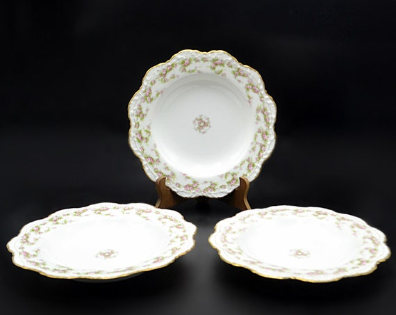 Antique Alfred Lanternier Limoges Serving Bowls