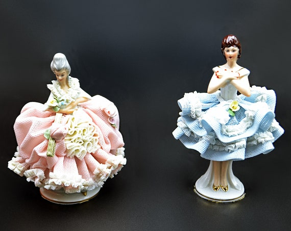 Sandizell Hoffner & Co Lace Lady, Dresden Style Figurines