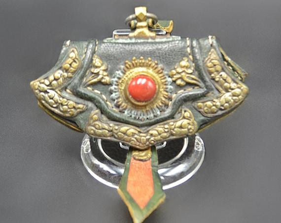 Antique Tibetan Belt Pouch, Asian Coin Purse