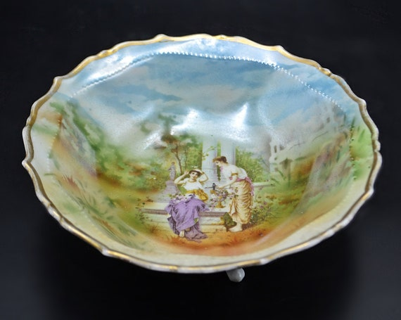 Antique Johann Seltmann Vohenstrauß Bowl, Footed Dish