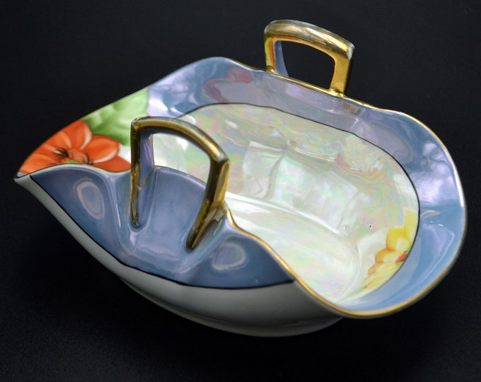 Noritake Morimura Basket, Art Deco Lusterware Bowl