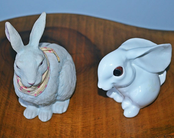 Vintage Gorham Rabbit Coin Bank, Royal Osborne Bunny Figurine