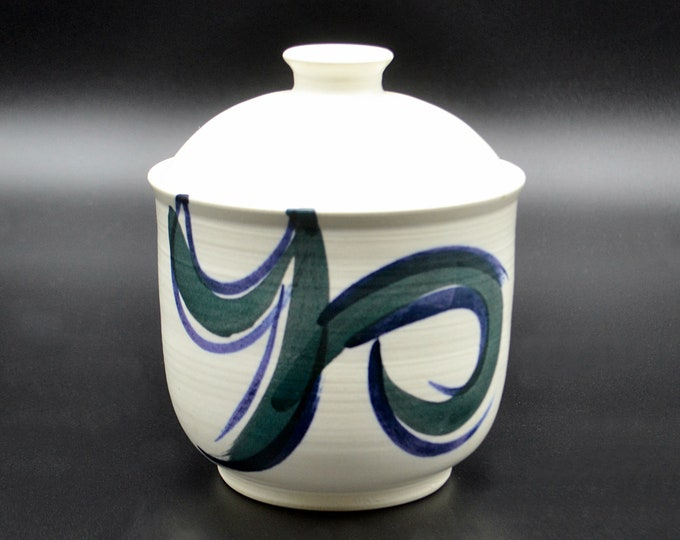 Pottery Tea Jar, Handmade Tea Canister