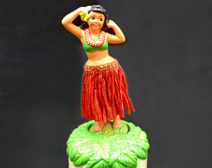 Hawaiian Hula Dancer Music Box, Dancing Girl