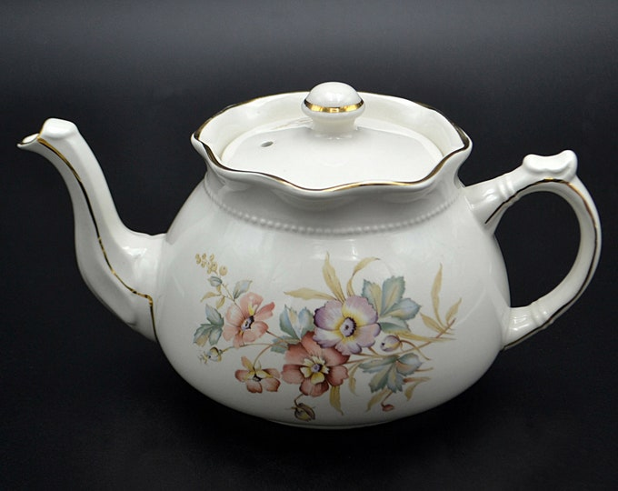 Flowering Dogwood Teapot, Arthur Wood And Son, Staffordshire England 6063