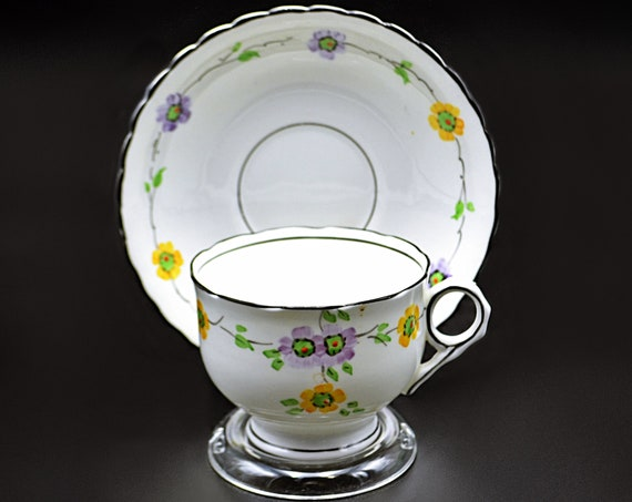 Phoenix China, Thomas Forester and Sons Teacup And Saucer, Art Deco