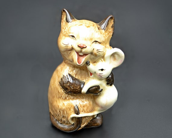 Beswick Cat And Mouse Figurine, Collectible Figurine