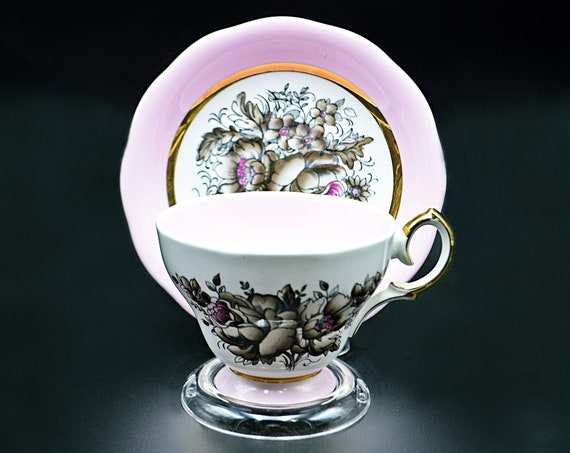 Queen Anne Pink Teacup And Saucer, 4937