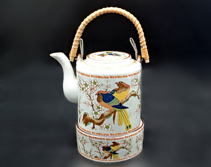 Bird Of Paradise Teapot With Warmer