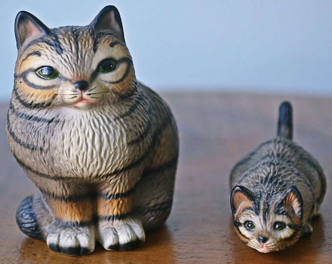 Royal Präsente Handbemalt, Tabby Cat Figurines