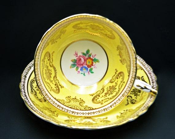 Paragon Yellow Teacup And Saucer, A410/2F