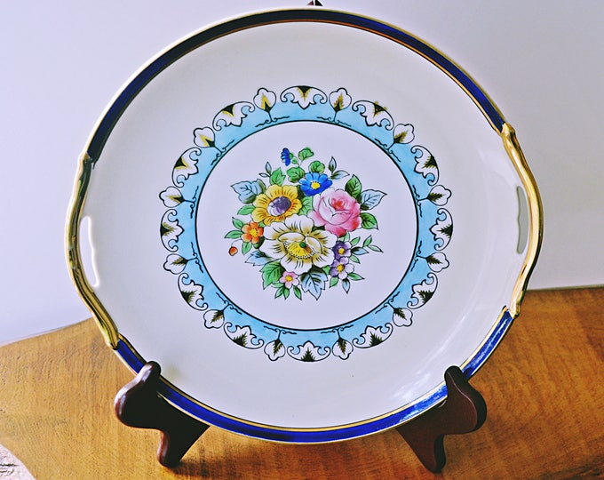 Noritake Morimura Plate, Vintage Plate With Handles, Art Deco Plate