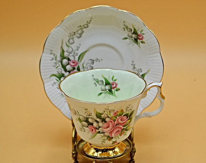 Royal Albert Teacup And Saucer, Lily Of The Valley