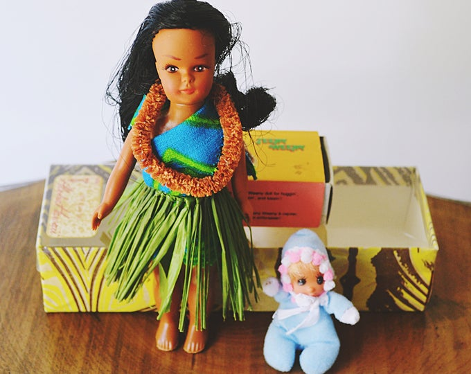 Vintage Dolls, Hawaiian Doll, Teeny Weeny Doll, Vintage Dolls With Boxes