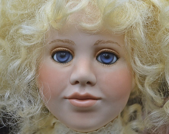 Paulette Aprile Originals Doll, Limited Edition 2 Of 7, 1991 Mia, Porcelain Doll With Doll