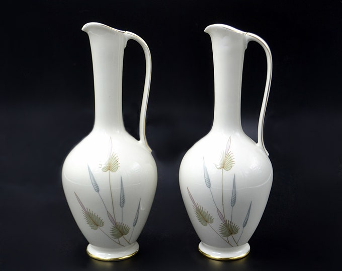 Eschenbach Bavaria Germany Ewers, Pair Of Porcelain Vases