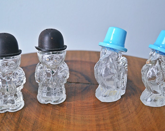 Crystalex Novy Bor Turkey Salt And Pepper Shakers, Moon Mullins Salt And Pepper Shakers