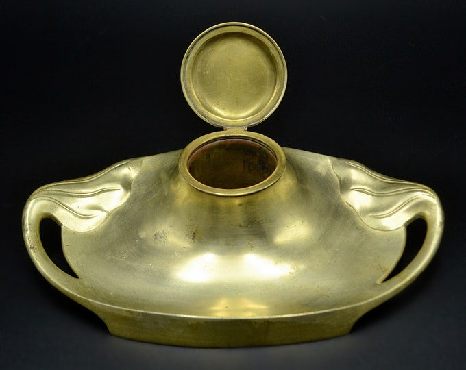 Art Nouveau Inkwell, German Inkwell