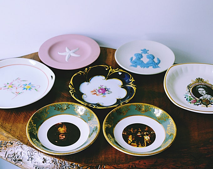 Collection Of Pin Dishes, Vintage Mint Dishes, Wedgwood, Weatherby Hanley, JL Menau Echt Kobalt, Pallisy