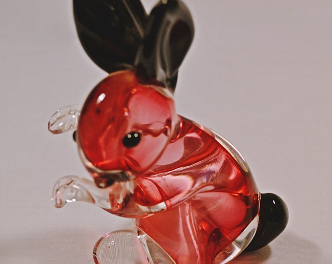 1950's Archimede Seguso, Mid-Century Murano Glass, Bunny, Blown Glass,