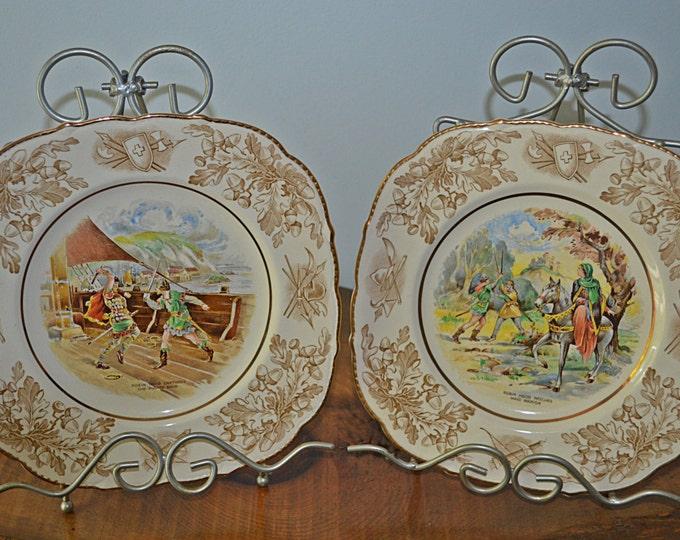 Robin Hood Plates, John Maddock & Sons Ltd, Royal Ivory, Collector's Plates