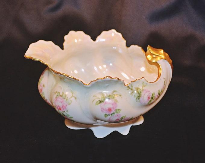 MZ Austria Creamer, Antique Porcelain, 1884-1909 Moritz Zdekauer