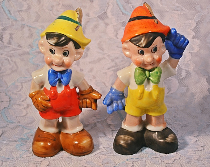 Pinocchio Salt And Pepper Shakers, Character Shakers