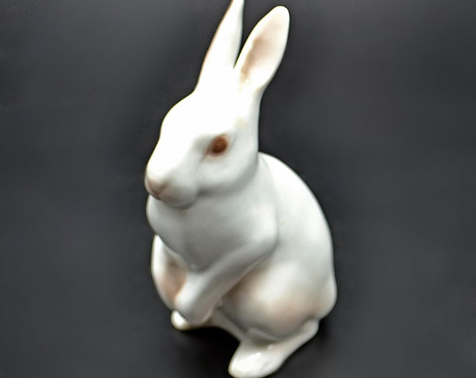 Bing And Grondahl Rabbit Figurine, Standing Bunny Miniature