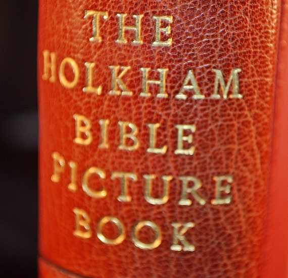 Bible, 1954 Holkham Bible Picture Book, Highly Collectible Book, First Edition Reproduction Of Fourteenth Century Book