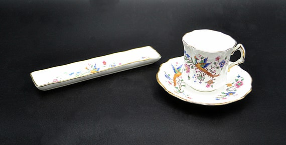 Hammersley Bird Of Paradise Cup And Saucer, Mint Dish