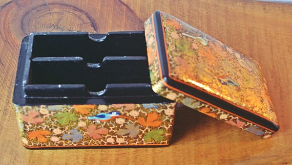 Paper Mache Business Card Holder, Made In Kashmir India Box