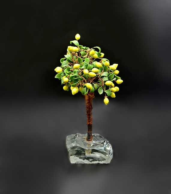 Vintage Art Glass Lemon Tree