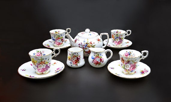 Hammersley & Co Demitasse Tea Set, 12 Piece, Service For 4