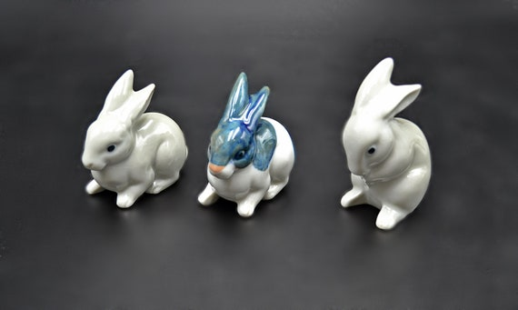 Rabbit Figurines, Ceramic Bunny Figurines