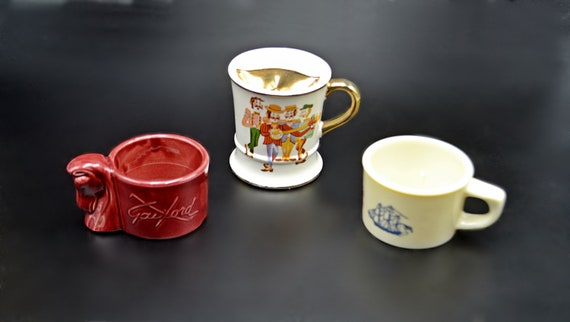 Collectible Shaving Mugs And Mustache Mug