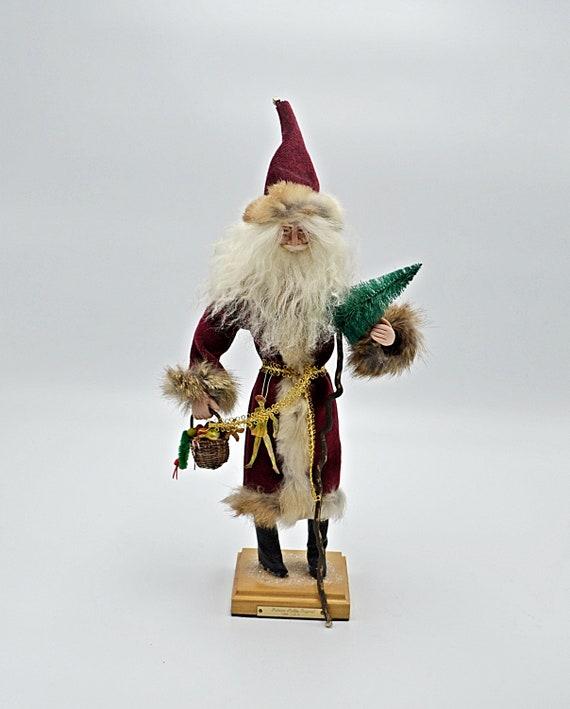 Vintage Handmade Santa Figurine, Patricia Stubbs Old St Nicholas, Limited Edition Of 5