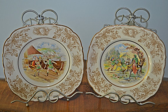 Robin Hood Plates, John Maddock & Sons Ltd, Royal Ivory, Collector's Plates