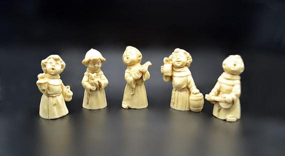 Set Of Five A Santini Choir Figurines