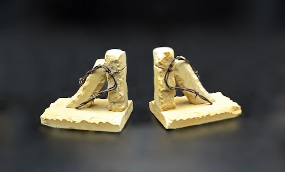 Bill White Miniature Stone Posts Bookends