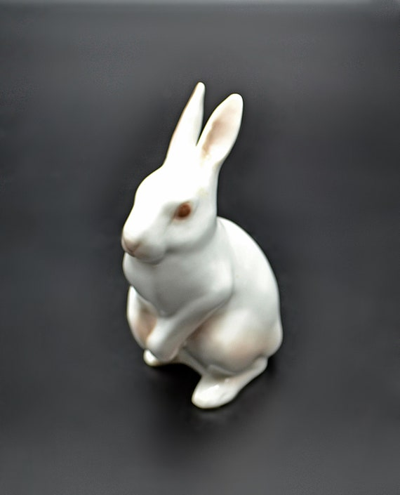 Bing And Grondahl Rabbit Figurine, Standing Bunny Miniature
