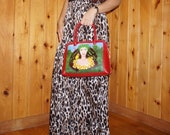 Hand-painted genuine leather bag (exclusive artwork quot Woman and Nature quot )