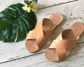 Greek Leather Sandals, Gladiator Sandals, Ancient Greek Sandals,Greek Gladiator, Summer flats, Women's Sandals, Handmade Sandals, Greek Flat